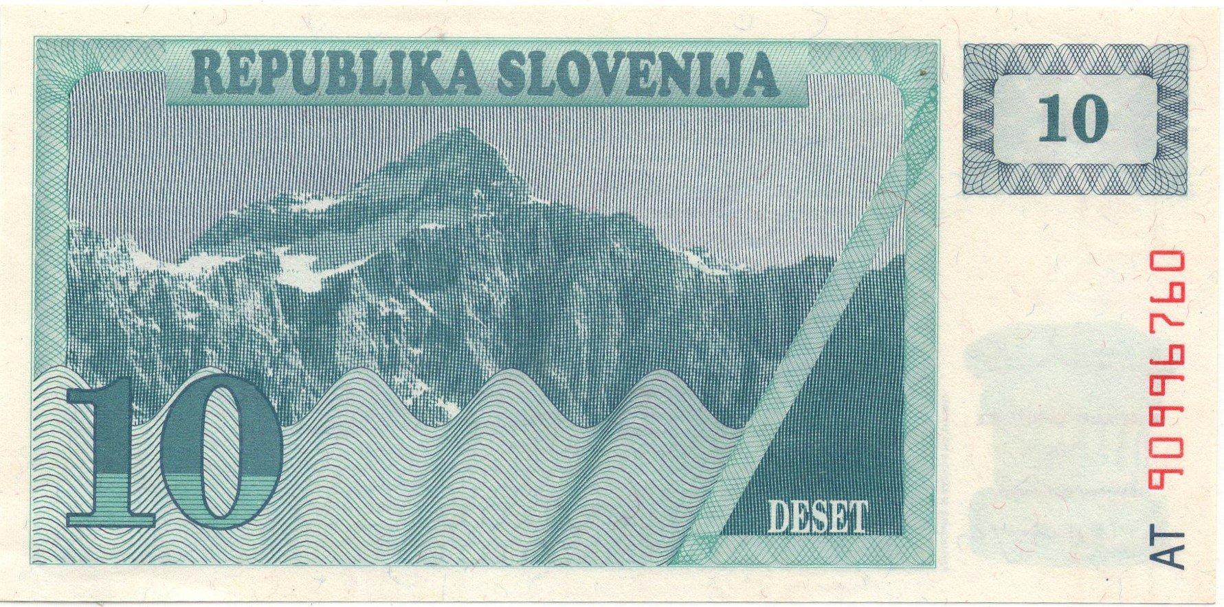 slovenia 10 tolar banknote for sale