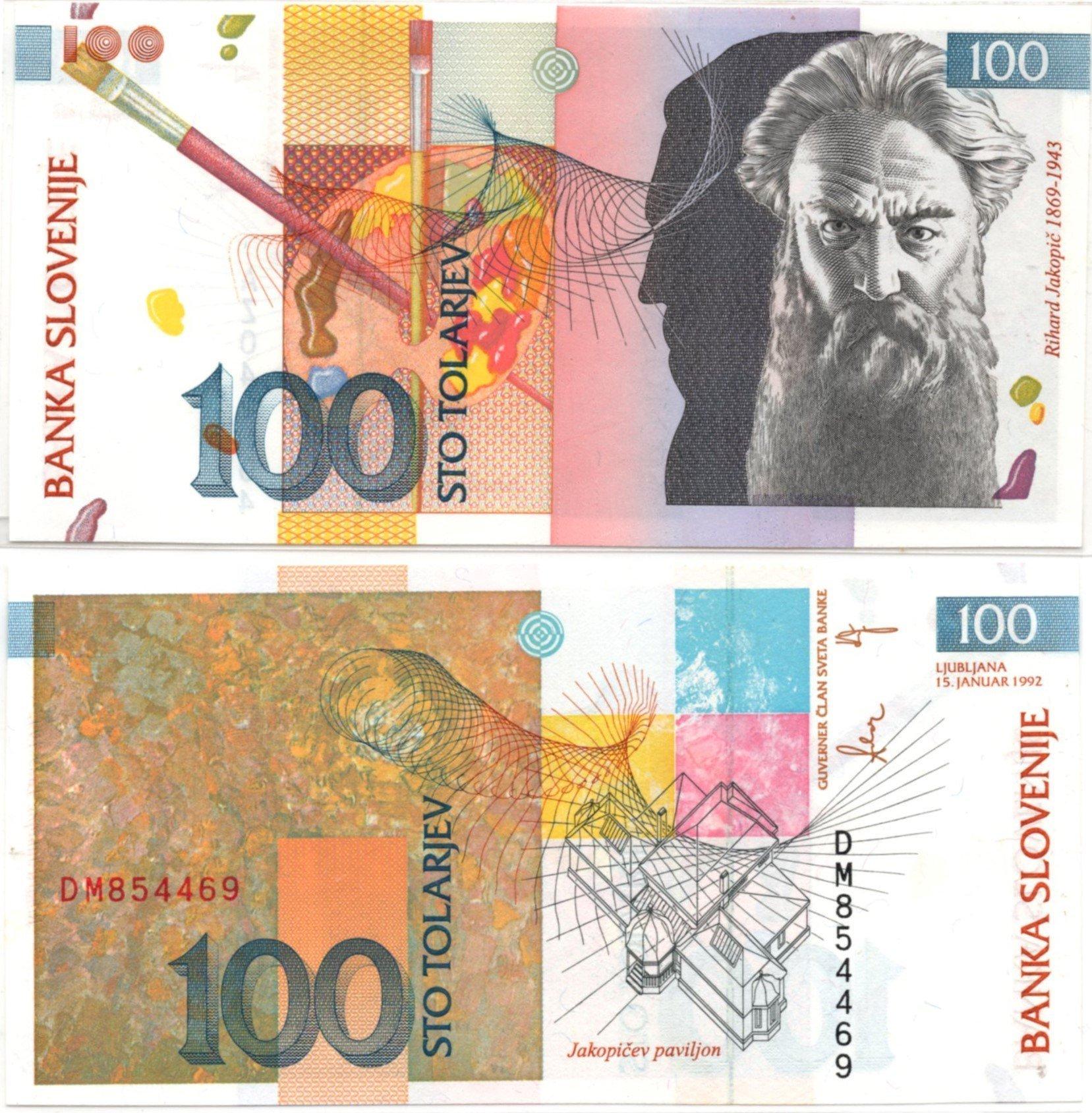 Slovenia 100 tolajev