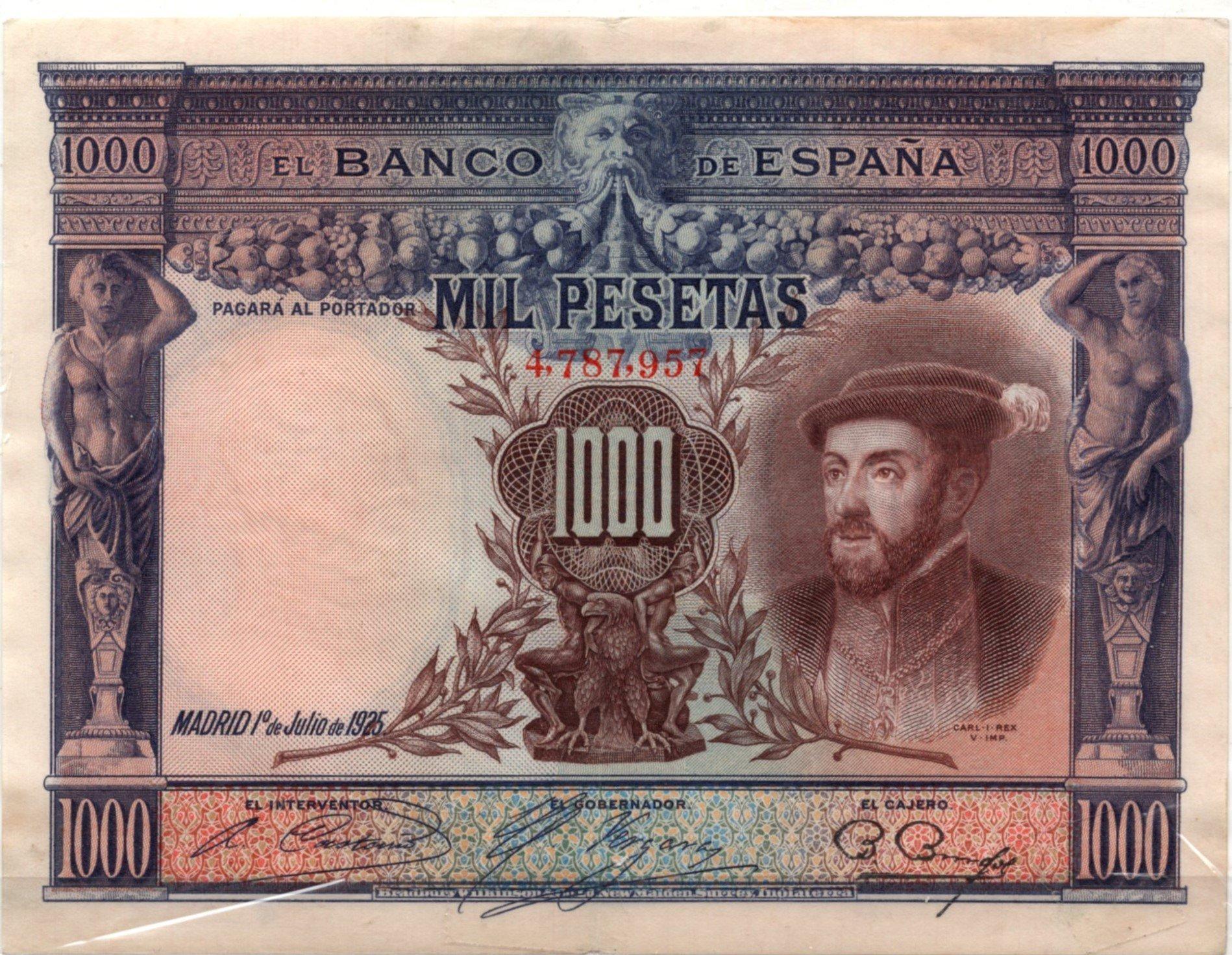 Spain 1000 pesetas 1925