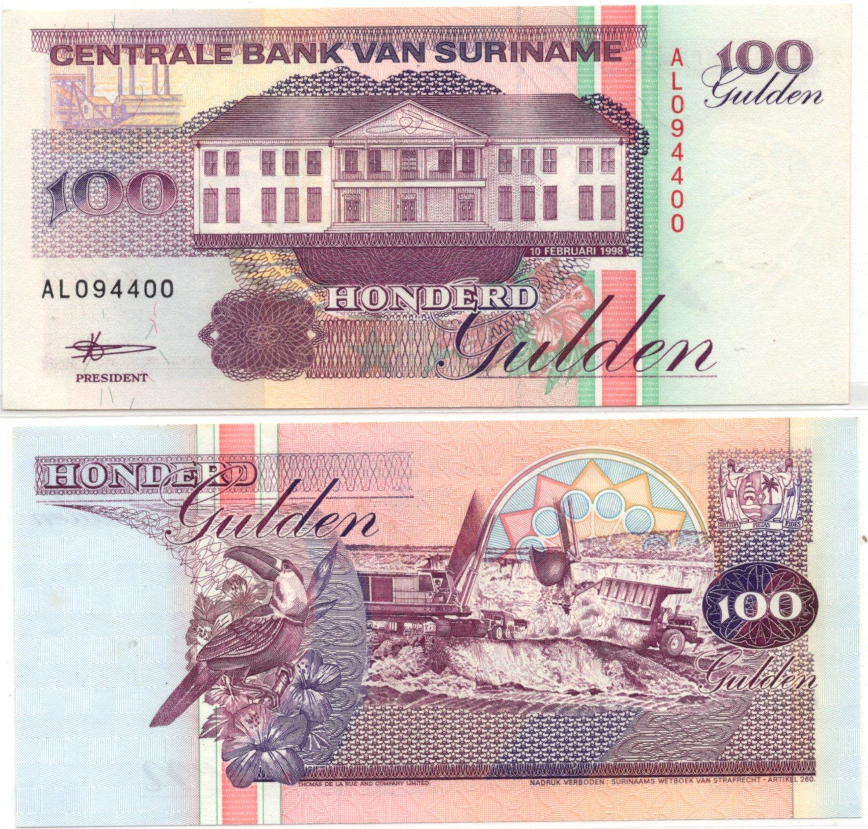 Surinam 100 gulden 1988 for sale