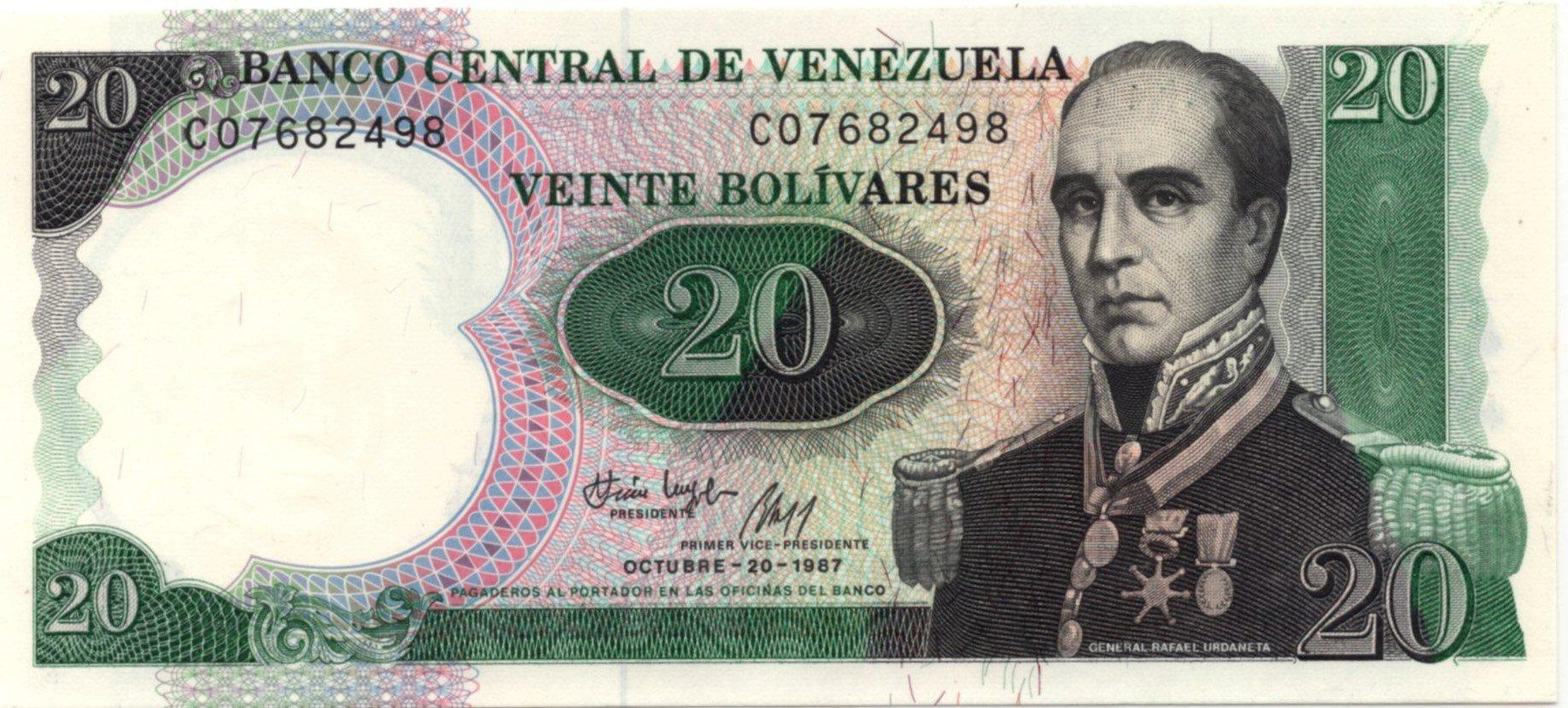 Venezuela 20 bolivares 1987