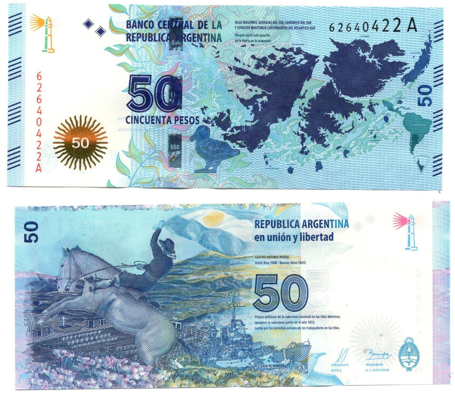 Argentina 50 pesos 2015