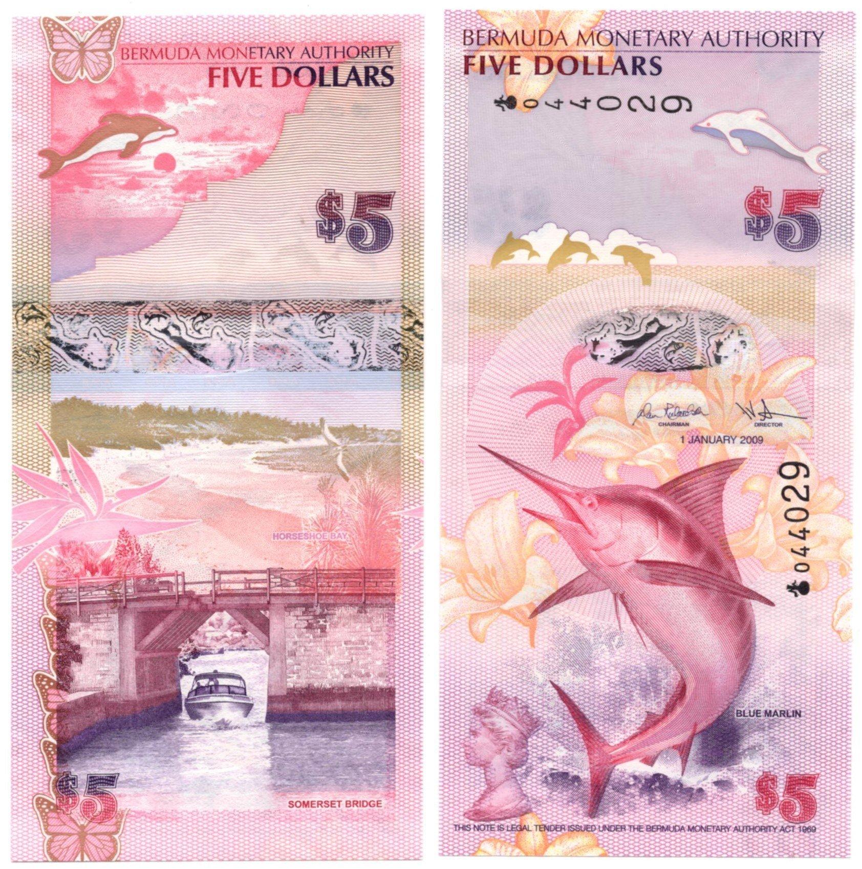 Bermuda 5 dollars 2009
