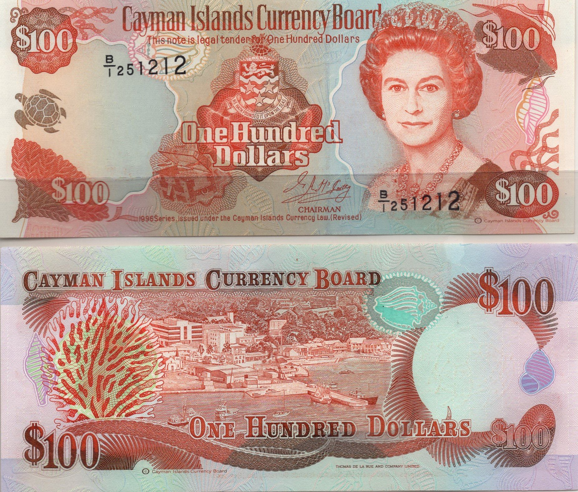 Cayman islands 100 dollars 1996 for sale