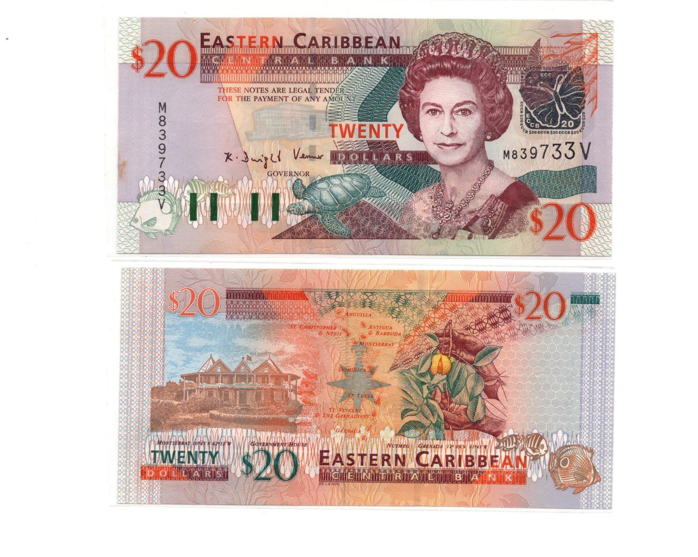 Eastern caribbean 20 dollars