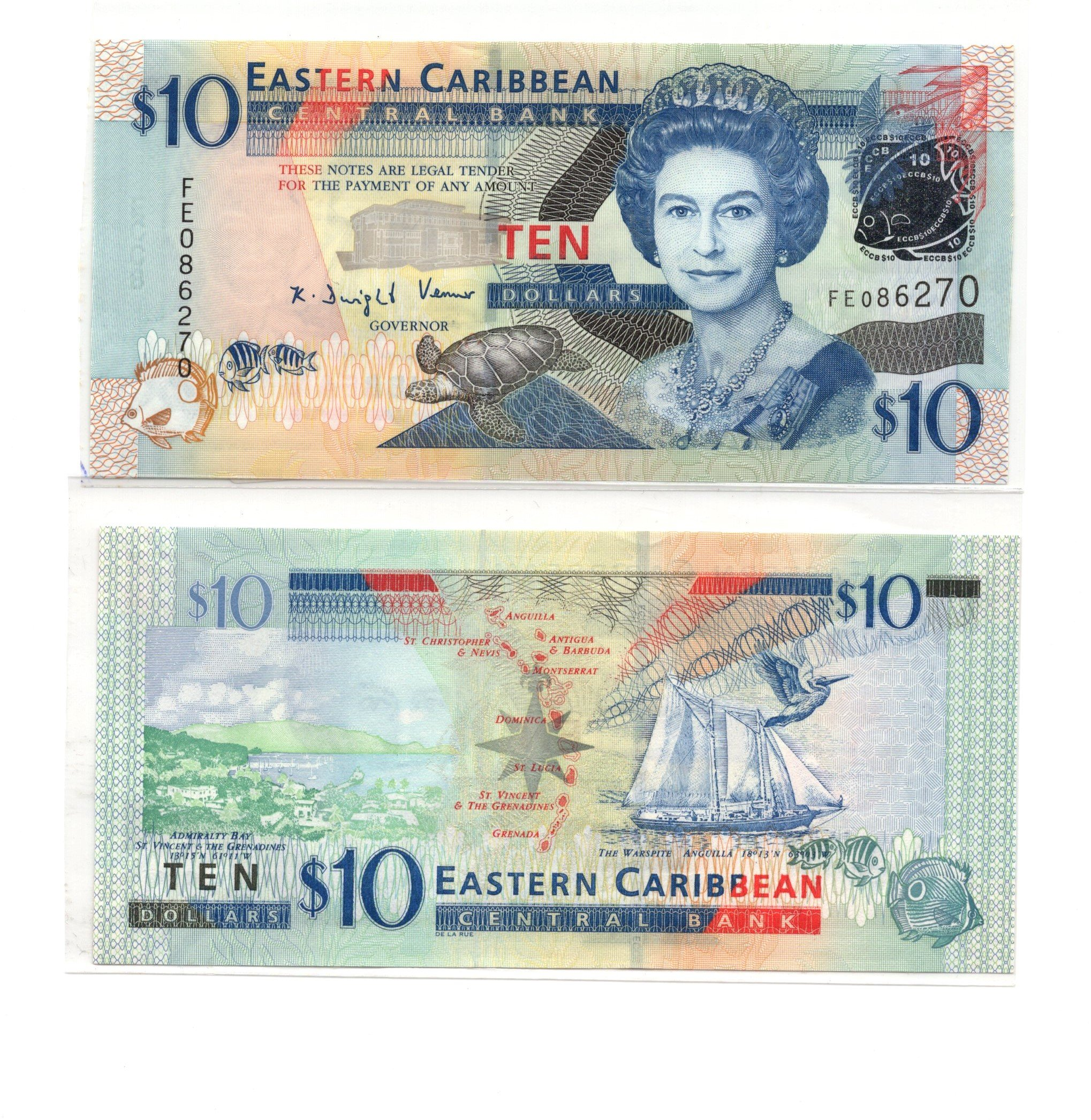 Eastern caribbean 10 dollars