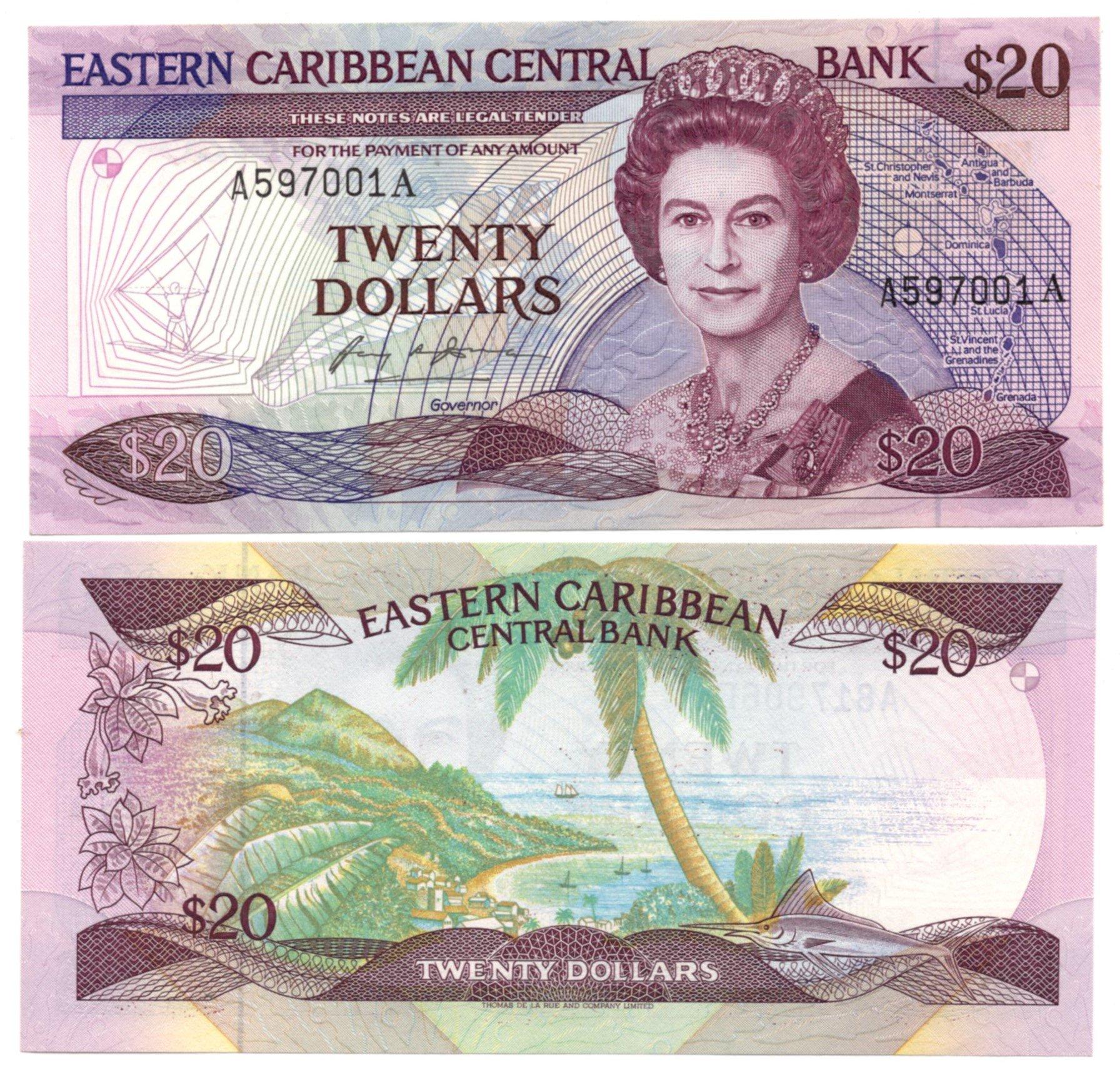 East caribbean 20 dollars for sale