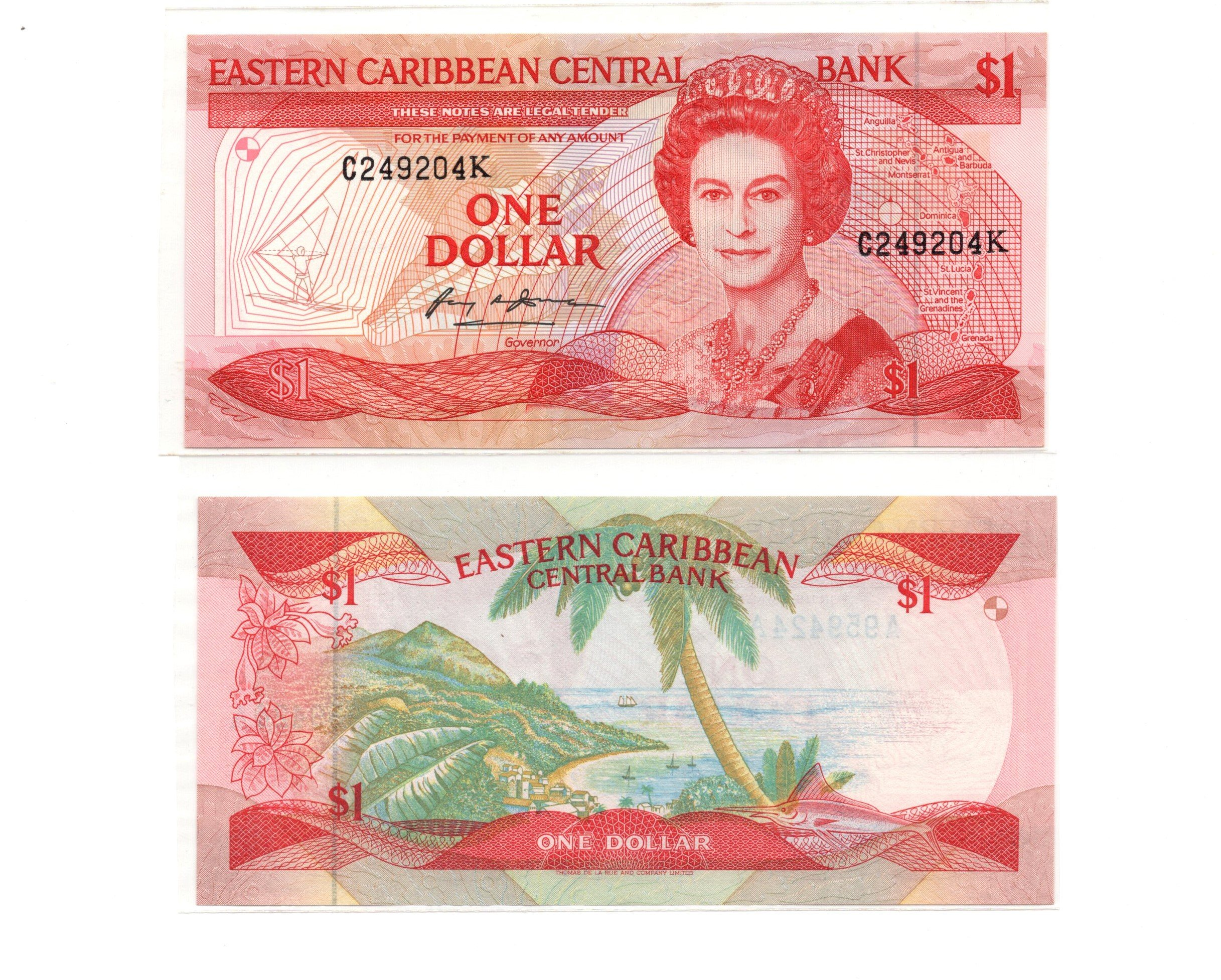 Eastern caribbean 1 dollar