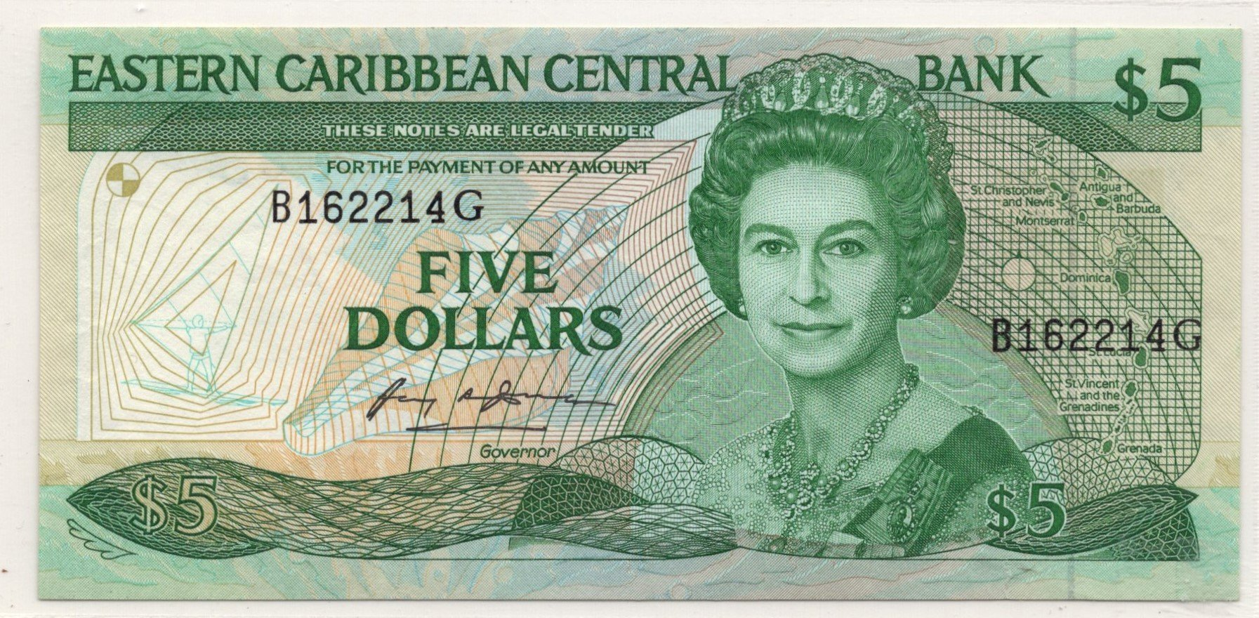 Eastern caribbean 5 dollars