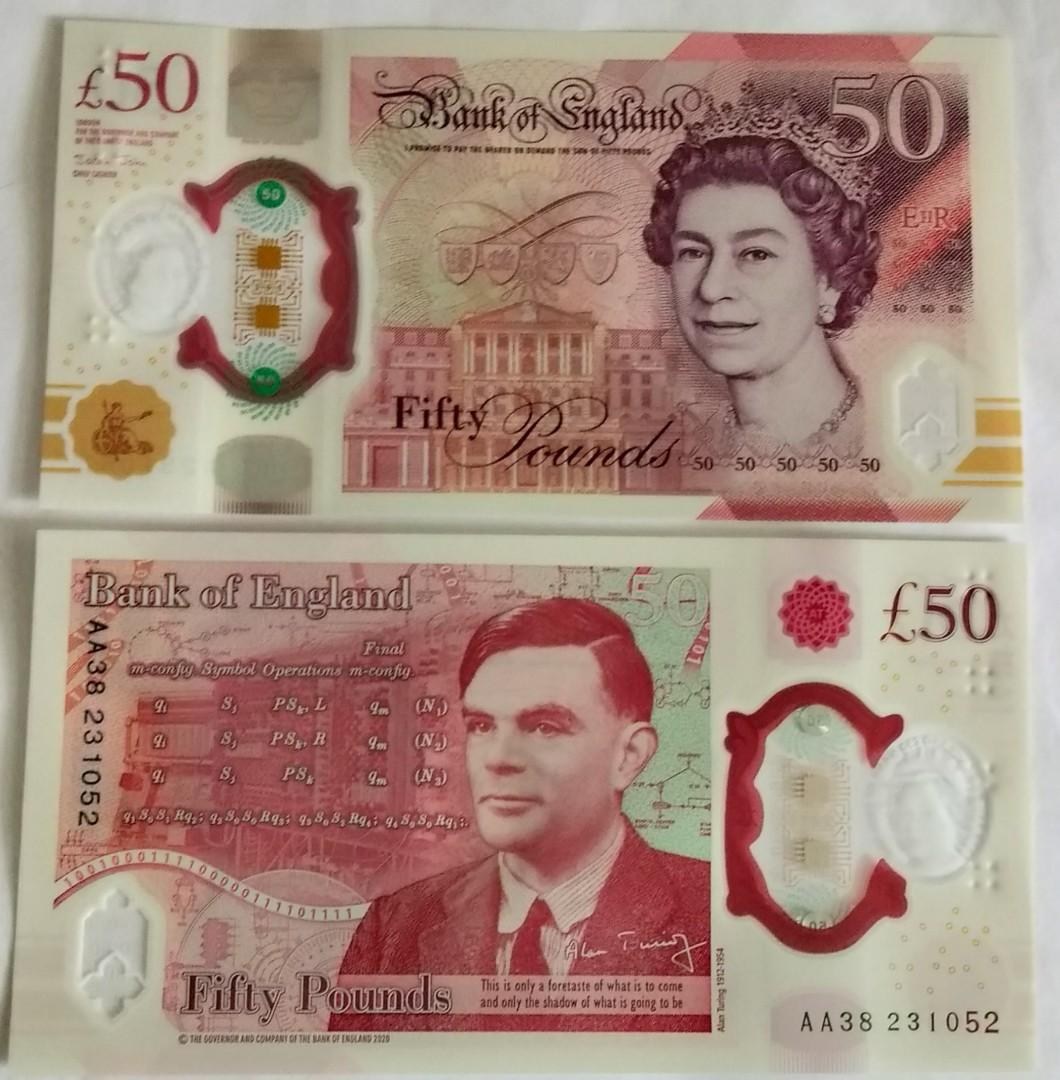 Great britain 50 pounds polymer