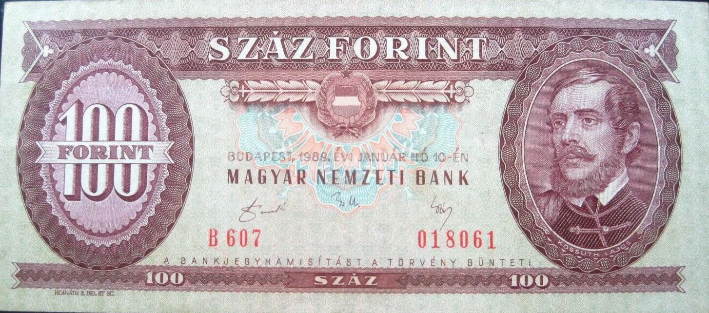 Hungary 100 forint 1989