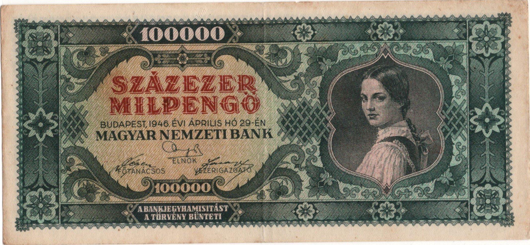 Hungary 100000 pengo 1946