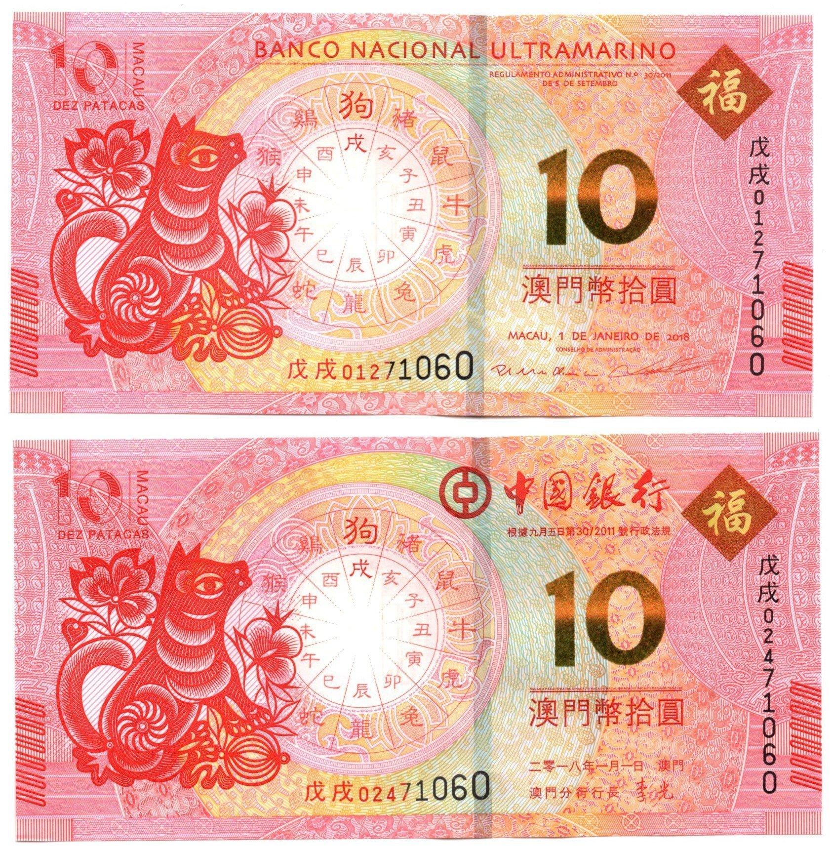 Macau yr of dog set