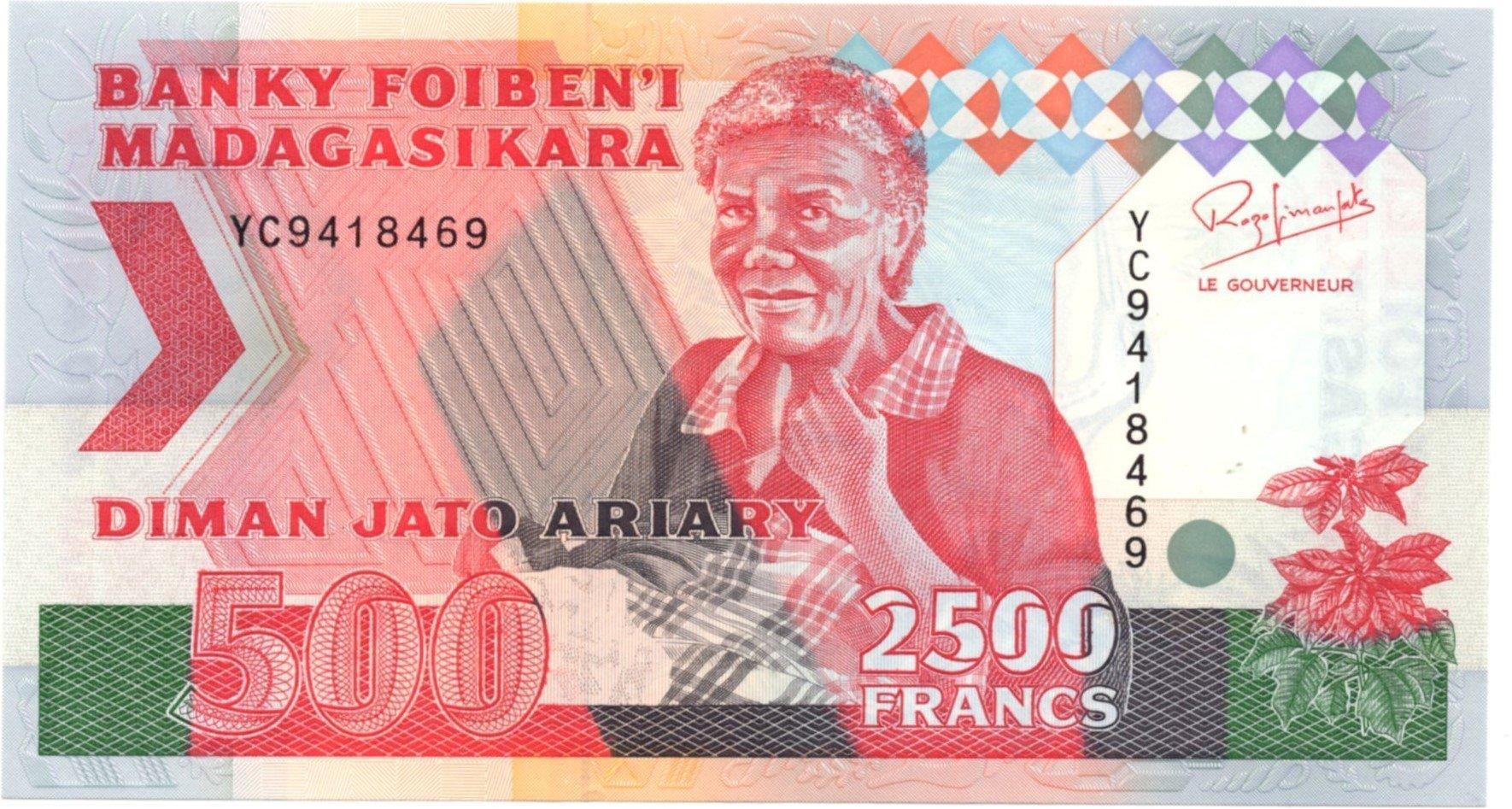 Madagascar 2500 francs 1994