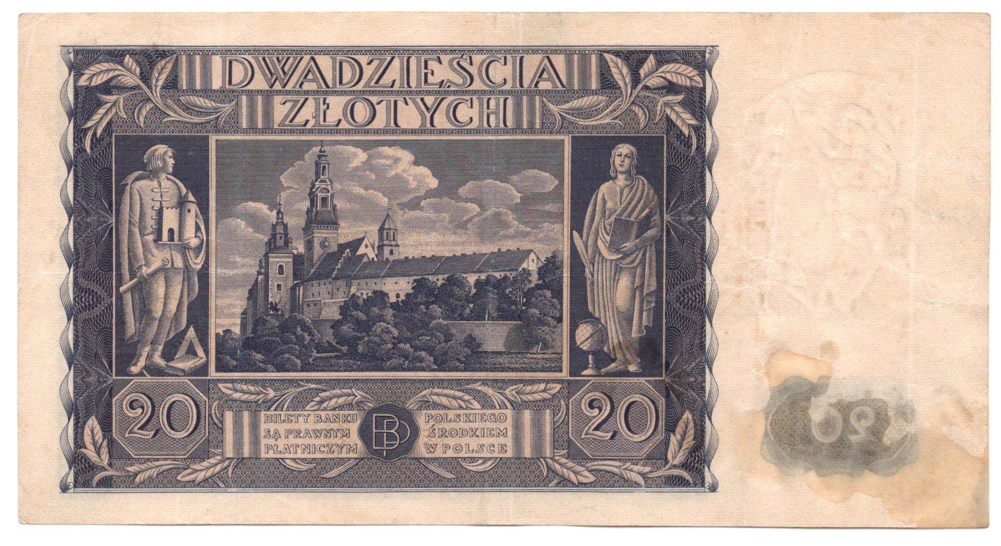 Poland 20 zlotych 1936 for sale