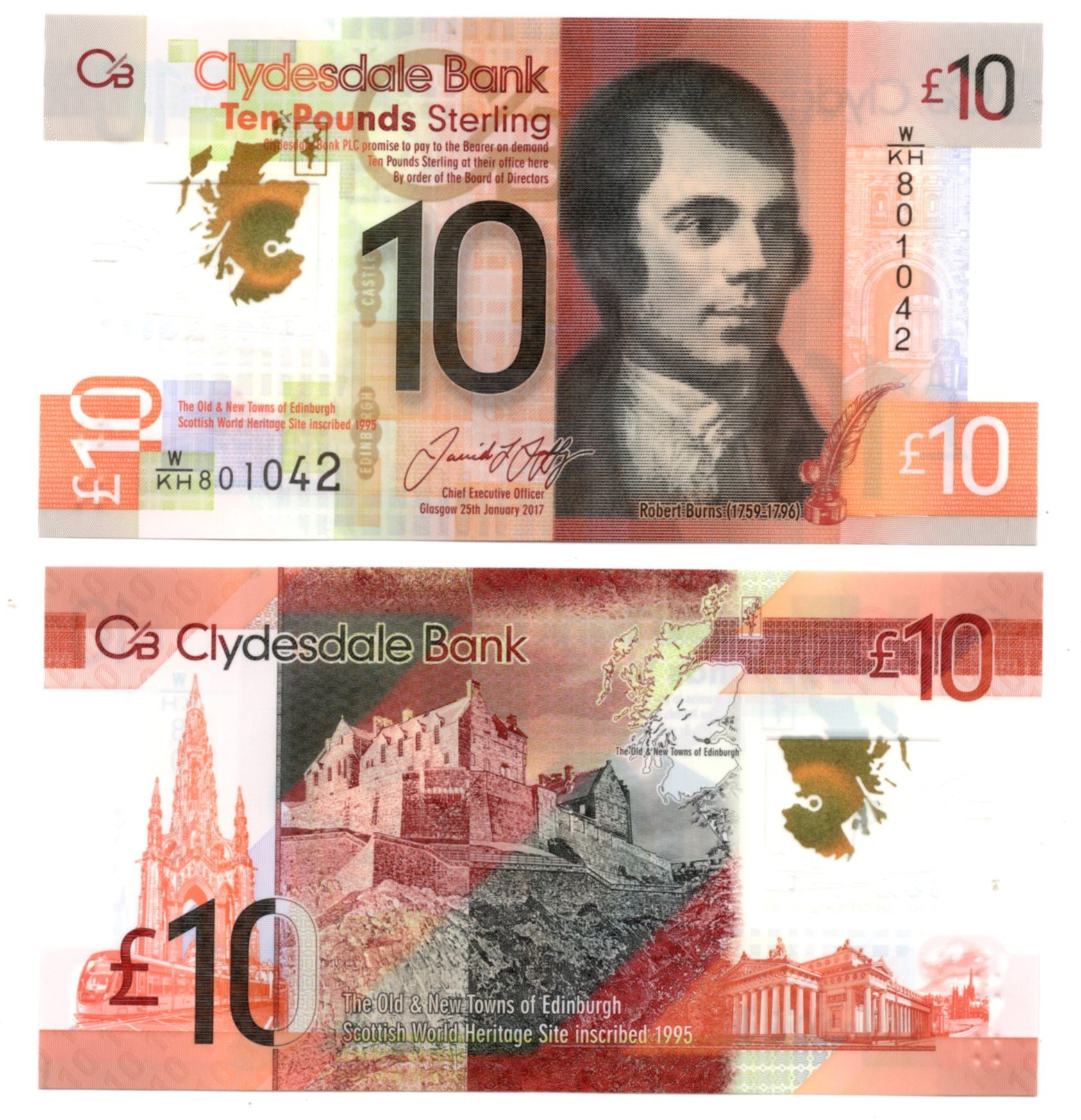 Scotland clydesbank 10 pounds for sale