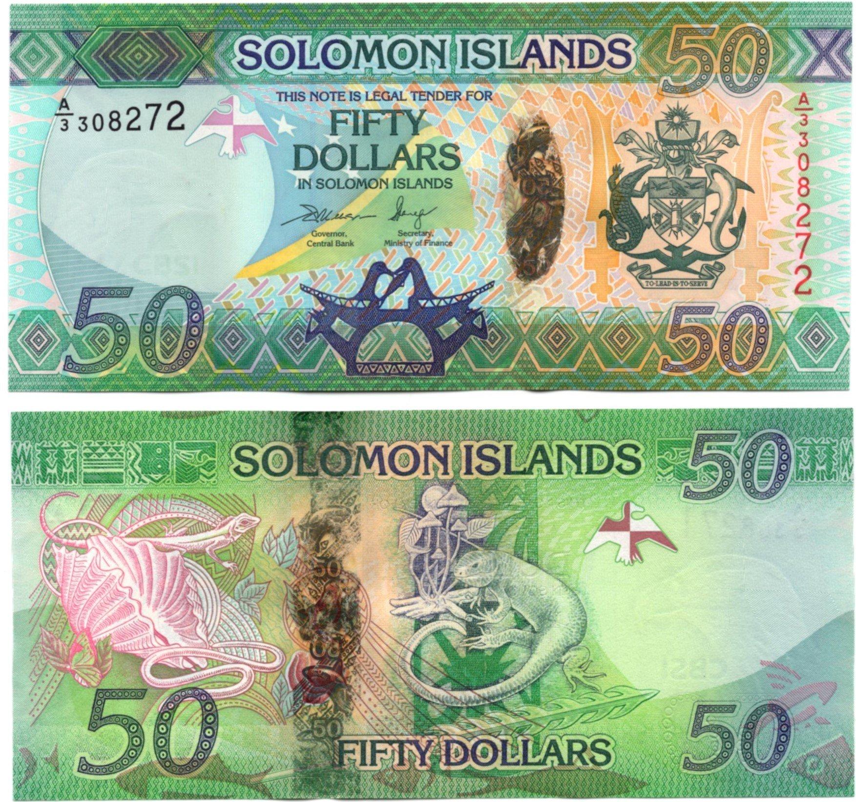 Solomon Islands 50 dollars hybrid polymer
