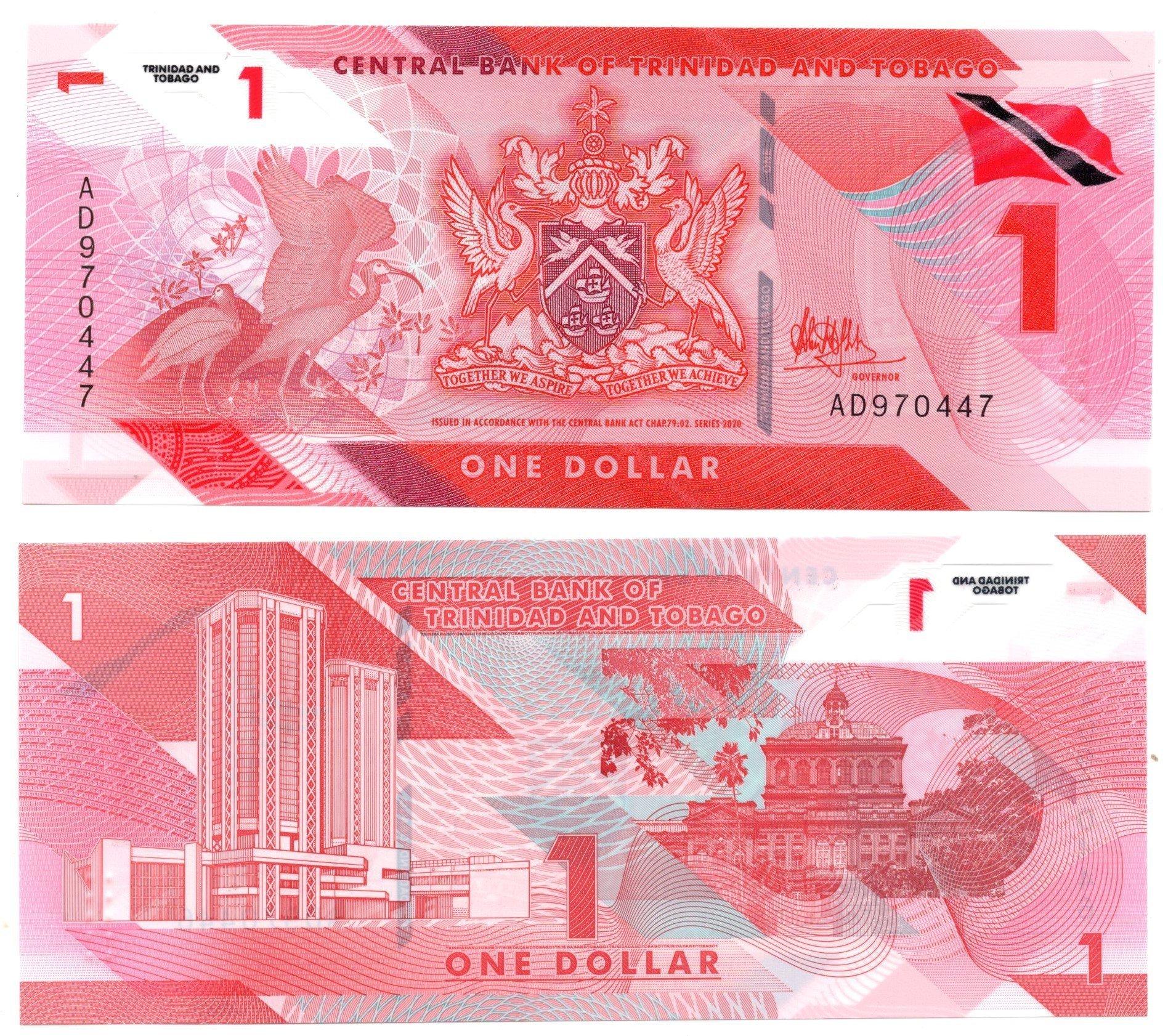 Trinidad and tobago 1 dollar polymer