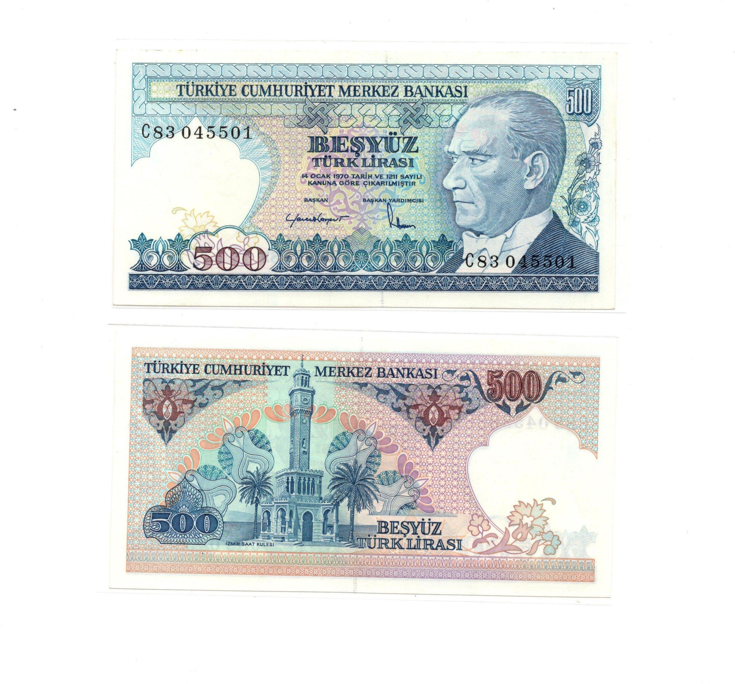 Turkey 500 lirasi 1970