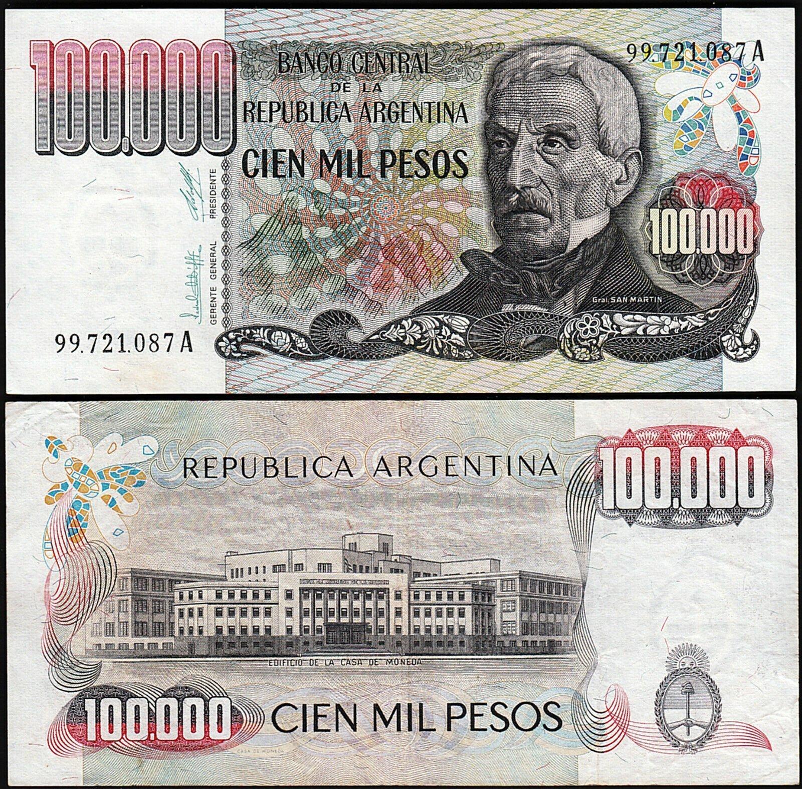 Argentina 100000 pesos 1983