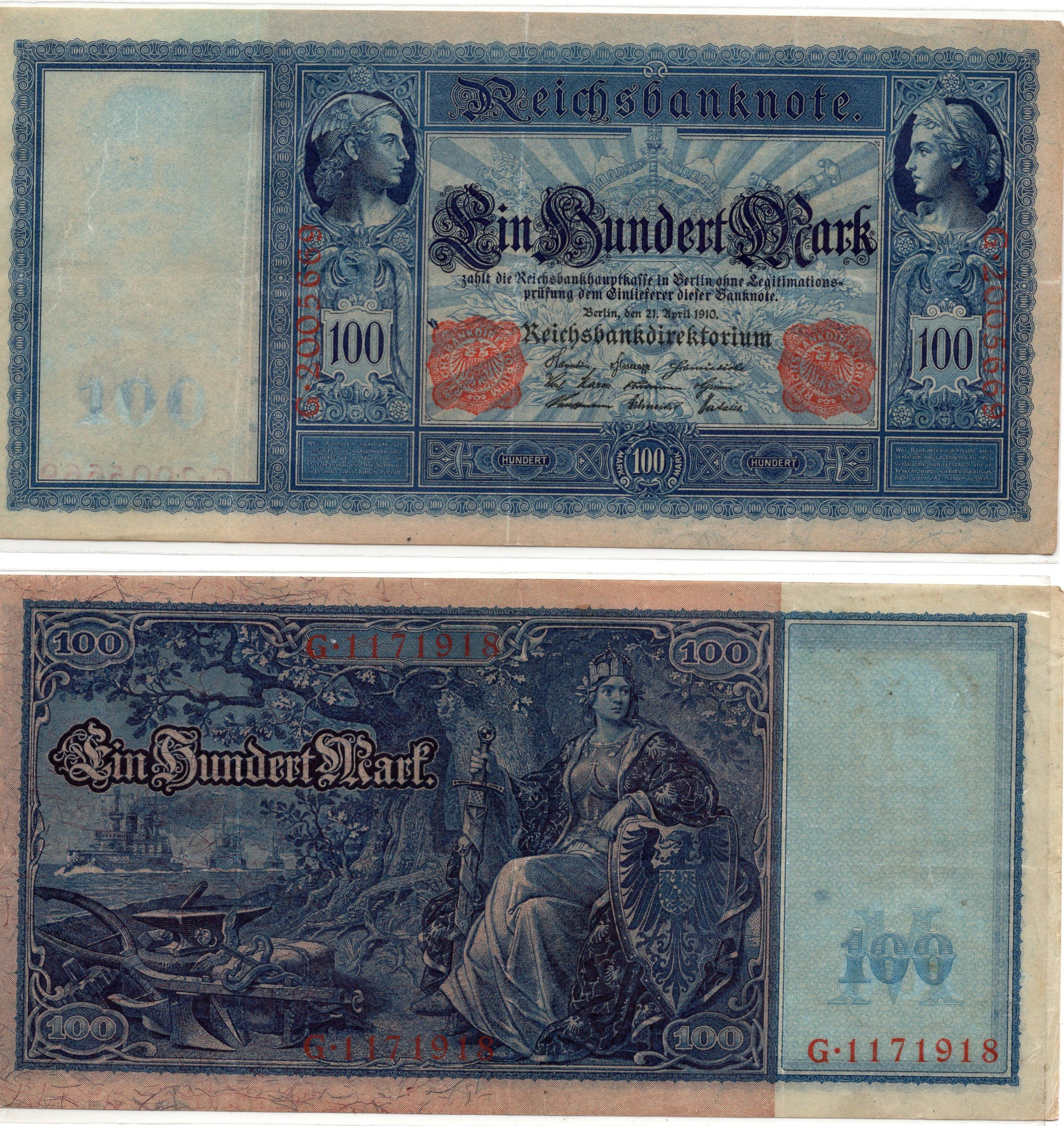 Germany 100 marks 1910  for sale